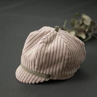 コーデュロイのふわふわ帽子|キッズ