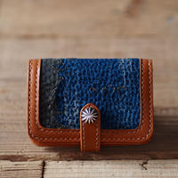 SASHIKO(BORO) LEATHER CARD CASE