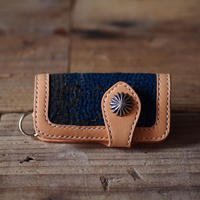 SASHIKO(BORO) LEATHER KEYCASE