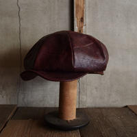 JAPAN VINTAGE LEATHER CAP ~type newsboy~58