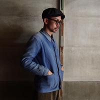 FRENCH VINTAGE FABRIC CAP ~type newsboy~60