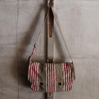 FRENCH VINTAGE  LINEN BAG ~type bread~①