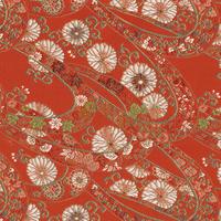 502-4203 西陣織(金欄) 赤 20x70cm