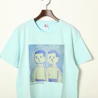 はじまりとおわりTシャツ(水色)