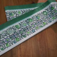 木版染 結城紬の半幅帯
