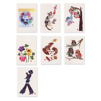 貼り絵ポストカード7枚セット3
