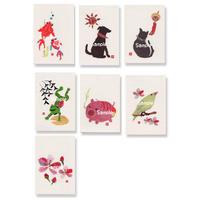貼り絵ポストカード7枚セット1