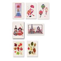 貼り絵ポストカード7枚セット2