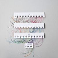 ロウ引きリネン糸『六花(りっか)』フルサンプル(55色+4サイズ)