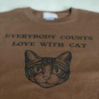 チャリティーtシャツCAT キッズブラウン