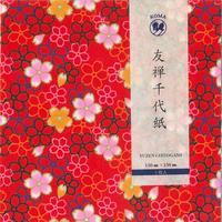 京染友禅千代紙 15㎝ 同柄5枚入 桜B1