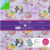 両面千代紙【花丸麻の葉】28-3766