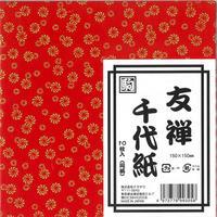 友禅千代紙  赤 01