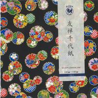 京染友禅千代紙 15㎝ 同柄5枚入 雪輪