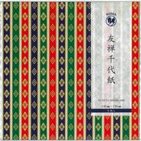 友禅千代紙 150×150mm 5枚入  ひな壇友禅紙3