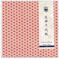 京染友禅千代紙 15㎝ 同柄5枚入 麻の葉 白