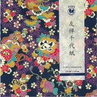 京染友禅千代紙 15㎝ 同柄5枚入 梅桜