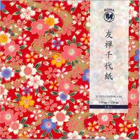 京染友禅千代紙 15㎝ 同柄5枚入 桜C