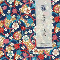 京染友禅千代紙 15㎝ 同柄5枚入 梅