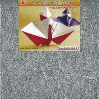 もみ銀箔両面和紙 25cm×25cm KM2510-2