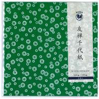 京染友禅千代紙 15㎝ 同柄5枚入 緑 01