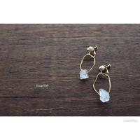 真鍮×stoneイヤリング
