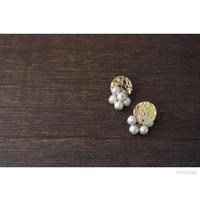 真鍮とコットンパール/ピアス