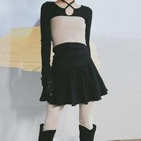 プリーツミニスカート
