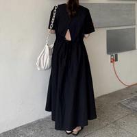 トライアングルバックロングドレス