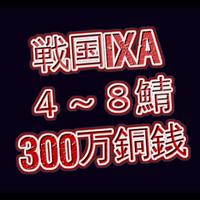 戦国ixa  4~8鯖  300万銅銭(一括もしくは分割対応)