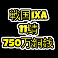 戦国ixa  11鯖  750万銅銭(一括もしくは分割対応)