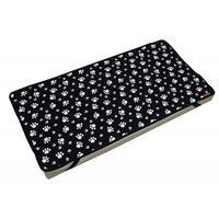 Cocoheart ペット用介護マット(オールジャパン・日本製)3種類のクッション素材で体圧分散 床ずれ予防 (100cm×50cm, ブラック)