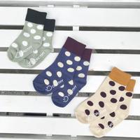 【14-16cm】DOROTHY ツートーンDOT socks