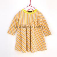 【deadstock 80cm】orange stripe onepiece