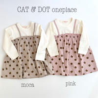 【80,90,100cm】CAT & DOT onepiace