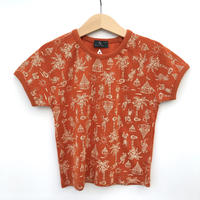【USED100cm】orange brown T