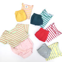 BABY tee+pants border SET