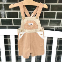 【USED90㎝】beige short overall