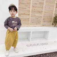 【80-120㎝】マスタード タックパンツ