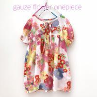 【used約110cm】gauze flower onepiece