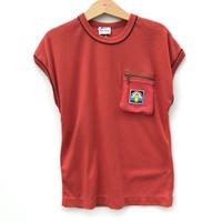 【used130cm】レンガ色Tシャツ