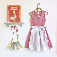 JurianKinder *red check onepiece with apron【jk110】