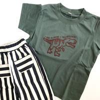 【110-130cm】刺繍dinosaur t-shirts