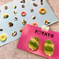 POTATO 刺繍イヤリング no.05