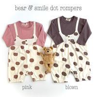 【70,80cm】bear & dot rompers