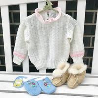 JurianKinder *ivory×pink knit【jk115】