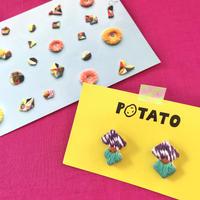 POTATO 刺繍ピアス no.01