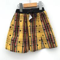 【used約90-100cm】黄チェックスカート