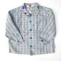 【USED80cm】mikihouse カラフルチェックシャツ