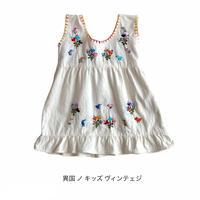 【vintage約80cm】とりさん刺繍ベビーワンピース
